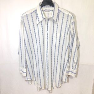 🔵 Vintage Alleson of Rochester Casual Button Down